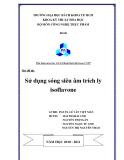 Đề tài: Sử dụng Sóng siêu âm trích ly Isoflavone