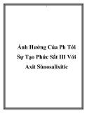 Luận văn: Nghiên cứu ảnh hưởng của pH đến sự tạo phức của Fe3+ với axit sunfosalixilic (SSal)