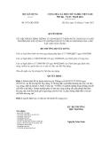 Quyết định số 1071/QĐ- BXD