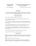 Quyết định số 97/2012/QĐ-UBND