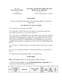 Quyết định số 289/QĐ-QLD