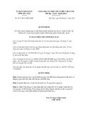 Quyết định số 1837/2012/QĐ-UBND