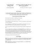 Quyết định số 84/2012/QĐ-UBND