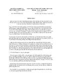 Thông báo số 5384/TB-BNN-XD