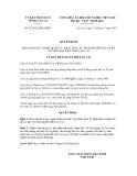 Quyết định số 52/2012/QĐ-UBND