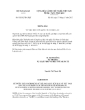 Thông báo số 50/2012/TB-LPQT