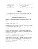 Quyết định số 2737/QĐ-UBND