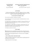 Quyết định số 85/2012/QĐ-UBND