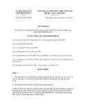 Quyết định số 47/2012/QĐ-UBND