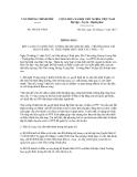 Thông báo số 388/TB-VPCP