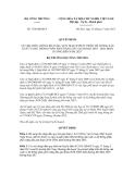 Quyết định số 7198/QĐ-BCT