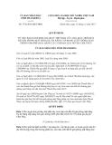 Quyết định số 3736/2012/QĐ-UBND