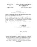 Thông báo số 48/2012/TB-LPQT