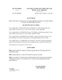 Quyết định số 2939/QĐ-BTC
