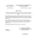 Phiếu chuyển số 6364/PC-TCHQCỘNG HÒA XÃ HỘI CHỦ NGHĨA VIỆT NAM Độc lập - Tự do - Hạnh phúc ---------------Hà Nội, ngày 14 tháng 11 năm 2012PHIẾU CHUYỂN CÔNG VĂN 07/TTR-HT NGÀY 22/10/2012 CỦA CÔNG TY CP ĐẦU TƯ THƯƠNG MẠI HOÀNG