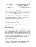 Thông tư số 201/2012/TT-BTC