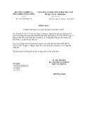 Thông báo số 5733/TB-BNN-VP