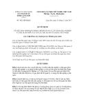 Quyết định số 1021/QĐ-HQLS