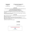 Quyết định số 2833/QĐ-UBND