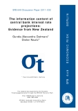The information content of  central bank interest rate  projections:  Evidence from New Zealand