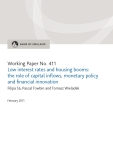 Low interest rates and housing booms: the role of capital inflows, monetary policy and financial innovation