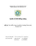 ĐỀ TÀI: Tìm  hiểu công cụ quản trị mạng Solawinds Toolset 10.7