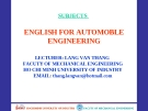 ENGLISH FOR AUTOMOBILE ENGINEERING-UNIT 8