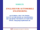 ENGLISH FOR AUTOMOBILE ENGINEERING-UNIT 7