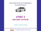 ENGLISH FOR AUTOMOBILE ENGINEERING -UNIT 3 ROTARY SYSTEM