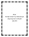 Đề tài Dư luận xã hội về sự chênh lệch giá vàng trong nước và thế giới  năm 2012