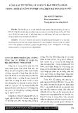Báo cáo khoa học:Công tác tư tưởng báo chí của Đảng trong thời kỷ công nghiệp hóa, hiện đại hóa