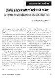Báo cáo khoa học:Chính sách kinh tế mới của Lênin