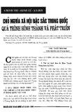 Báo cáo khoa học : Chủ nghĩa xã hội  đặc sắc ở Trung Quốc