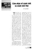 Báo cáo khoa học:Cảm nhận về minh triết và minh triết Việt