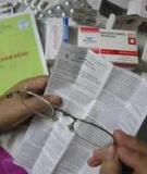 Cách đọc tờ hướng dẫn sử dụng thuốc
