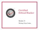 Module 28 Writing Virus Codes