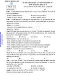 ĐỀ THI THỬ ĐẠI HỌC CAO ĐẲNG SỐ 1 NĂM 2013 MÔN: HÓA HỌC; KHỐI A - B