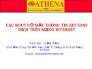 Các nguy cơ mất thông tin khi giao dịch trên mạng Internet