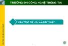 CẤU TRÚC DỮ LIỆU VÀ GIẢI THUẬT - ĐH CNTT