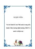 Luận văn đề tài : Vai trò kinh tế của Nhà nước trong kinh tế thị trường định hướng XHCN ở nước ta hiện nay