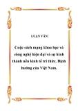LUẬN VĂN:  Cuộc cách mạng khoa học và công nghệ hiện đại và sự hình thành nền kinh tế tri thức - Định hướng của Việt Nam