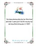Vận dụng phương pháp dạy học Đàm thoại phát hiện và giải quyết vấn đề trong dạy học nội dung Hình không gian 11 THPT