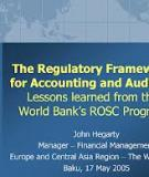 IMPLEMENTATION OF INTERNATIONAL ACCOUNTING AND  AUDITING STANDARDS: Lessons Learned from the World Bank's Accounting and Auditing ROSC Program