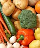 Rau củ và trái cây giúp bảo vệ sức khỏe trẻ