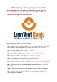Đề thi tuyển giao dịch viên ngân hàng Lienvietbank (5/6/2010)