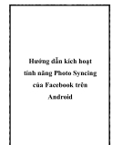 Hướng dẫn kích hoạt tính năng Photo Syncing của Facebook trên Android