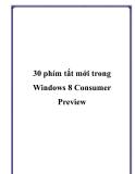 30 phím tắt mới dùng trong Windows 8 Consumer Preview