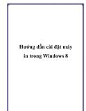Hướng dẫn cài đặt máy in trong Windows 8