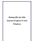 Hướng dẫn tùy biến Internet Explorer 9 trên Windows