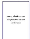 Hướng dẫn tắt/mở tính năng Tabs Preview trên IE và Firefox